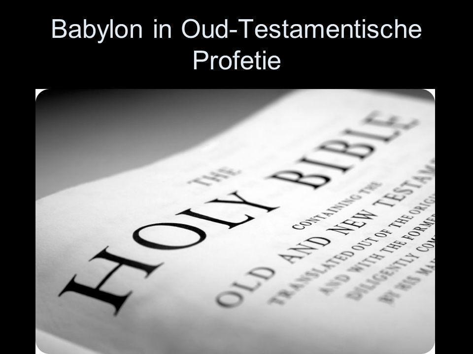 Babylon in Oud-Testamentische Profetie