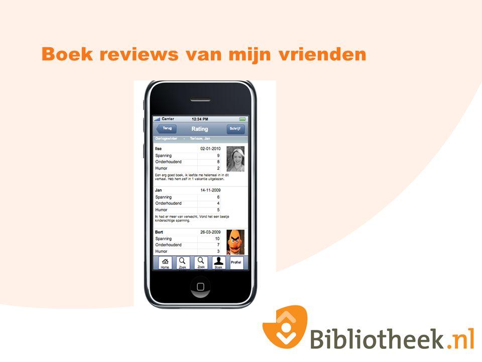 Boek reviews van mijn vrienden