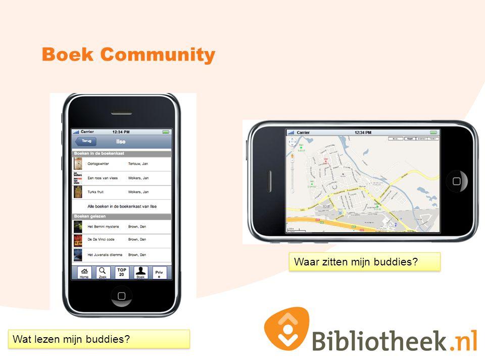Boek Community Wat lezen mijn buddies? Waar zitten mijn buddies?