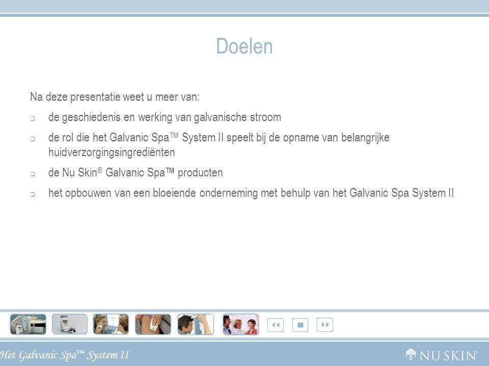 Het Galvanic Spa ™ System II Bouw uw onderneming uit met behulp van het Nu Skin ® Galvanic Spa ™ System II  Retentie:  Consumententrends wijzen erop dat spa- behandelingen niet meer uitsluitend beschouwd worden als verwennerij, maar als een vereiste om gezond te blijven en er goed uit te zien.