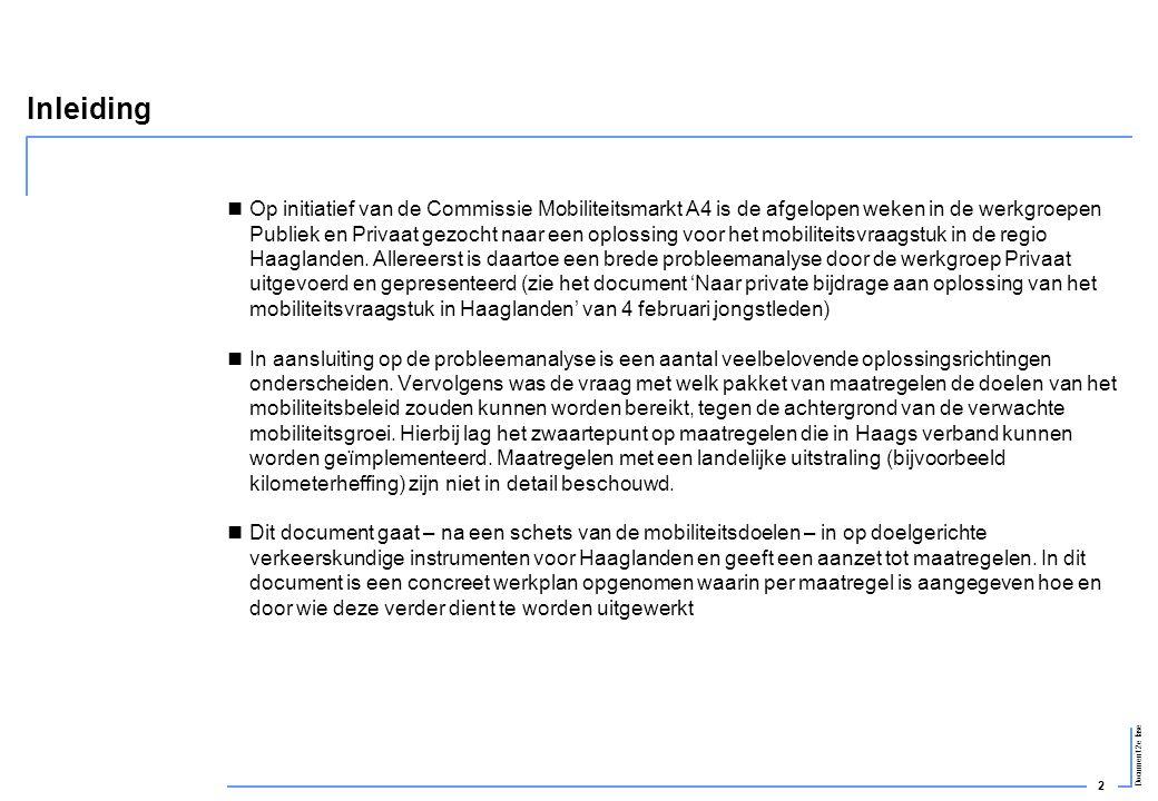 2 Document 2e fase Inleiding  Op initiatief van de Commissie Mobiliteitsmarkt A4 is de afgelopen weken in de werkgroepen Publiek en Privaat gezocht n