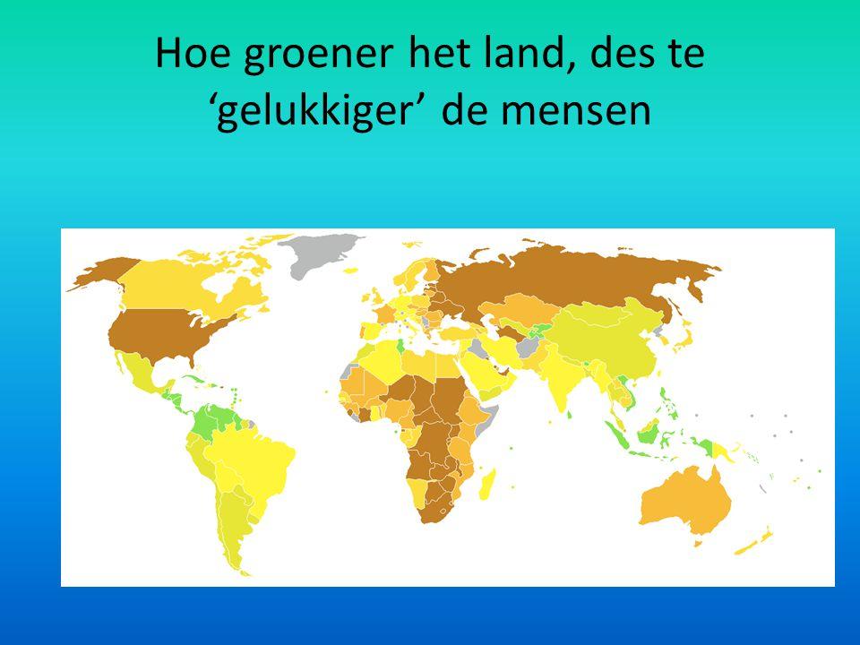 Hoe groener het land, des te 'gelukkiger' de mensen