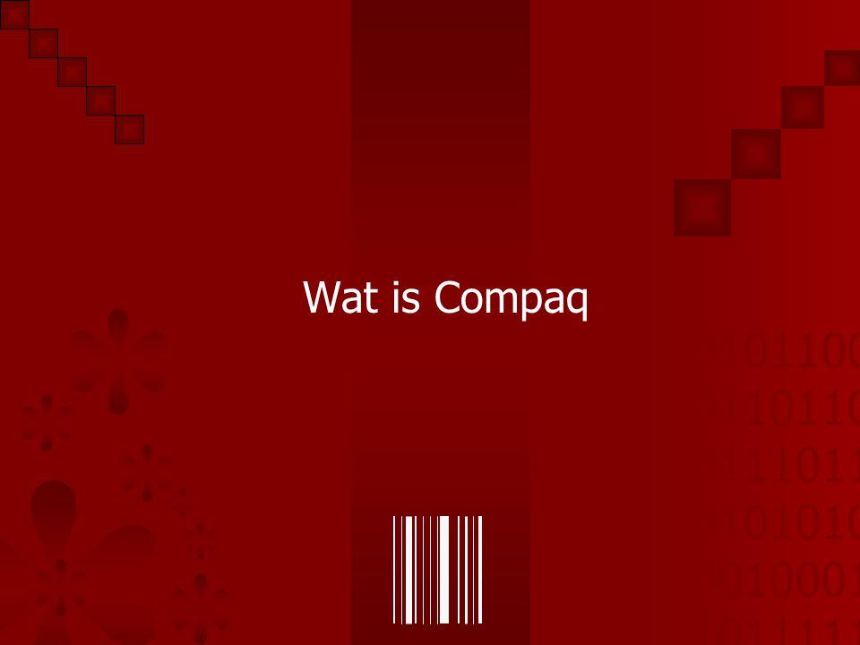 01011001 01101101 01110110 01010101 00100010 10111110 Compaq Wat is Compaq