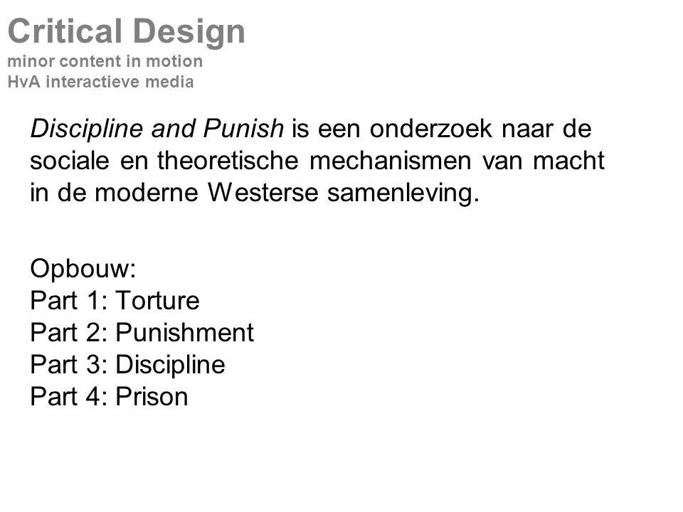 Discipline and Punish is een onderzoek naar de sociale en theoretische mechanismen van macht in de moderne Westerse samenleving.