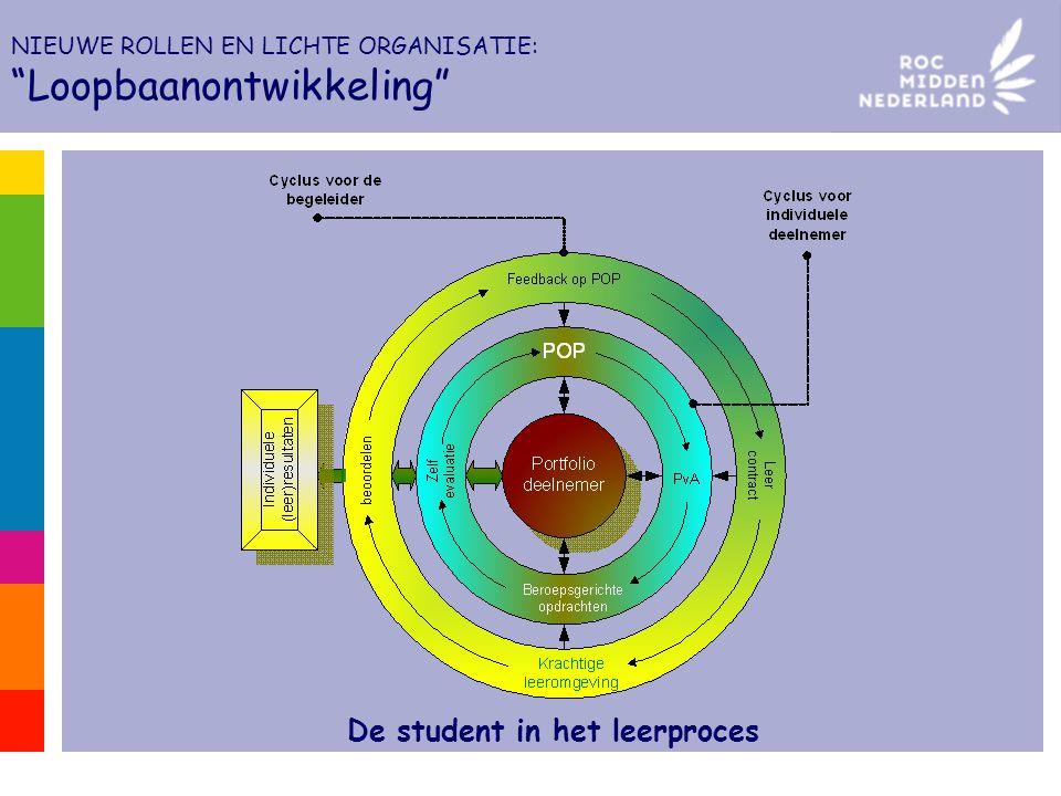 De student in het leerproces NIEUWE ROLLEN EN LICHTE ORGANISATIE: Loopbaanontwikkeling