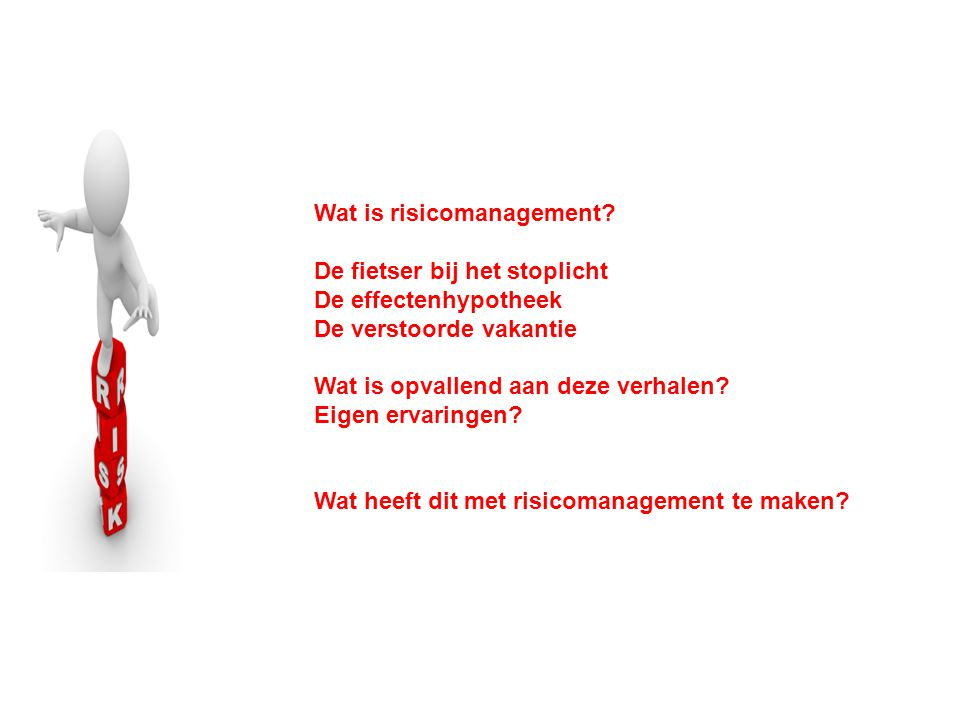 Wat is risicomanagement.