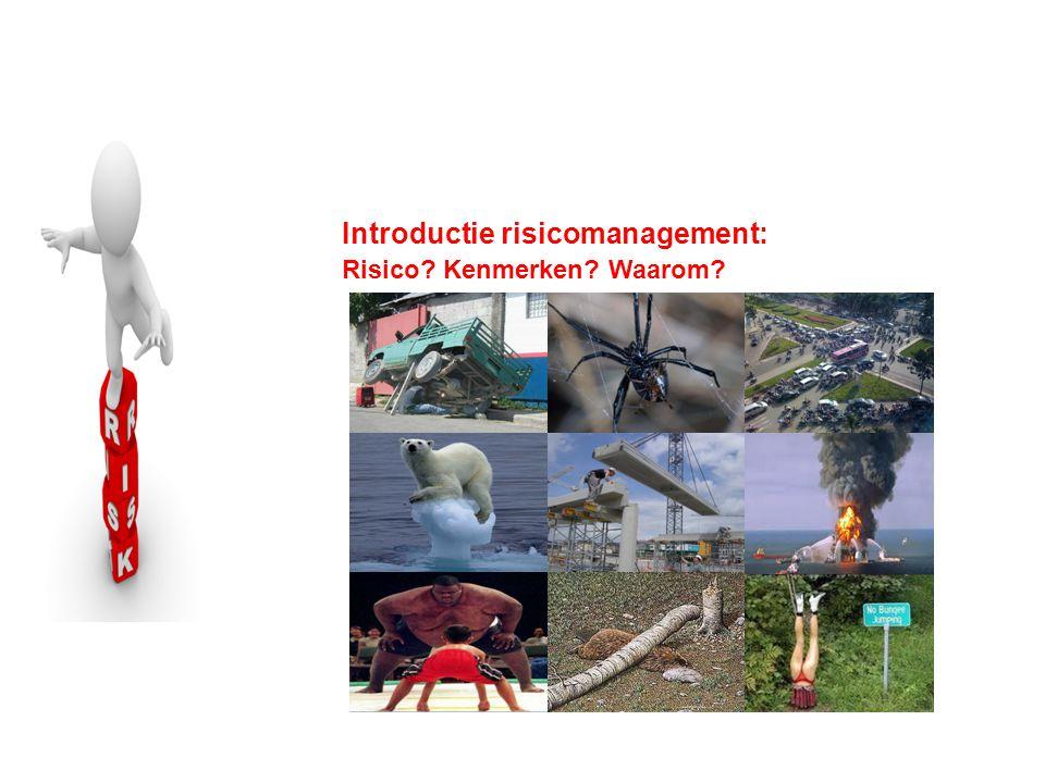 Introductie risicomanagement: Risico? Kenmerken? Waarom?