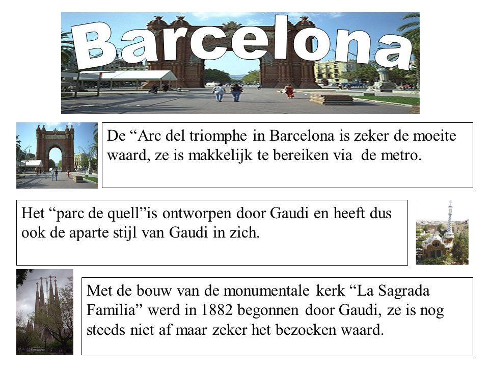 """Het """"parc de quell""""is ontworpen door Gaudi en heeft dus ook de aparte stijl van Gaudi in zich. Met de bouw van de monumentale kerk """"La Sagrada Familia"""