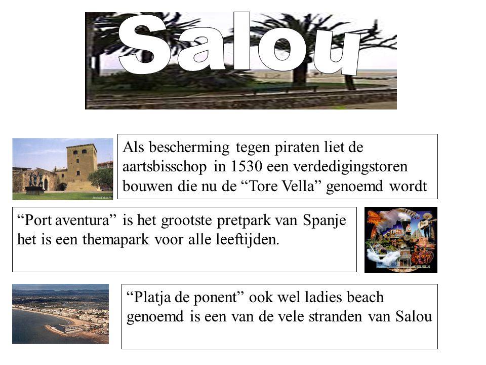 """Als bescherming tegen piraten liet de aartsbisschop in 1530 een verdedigingstoren bouwen die nu de """"Tore Vella"""" genoemd wordt """"Platja de ponent"""" ook w"""
