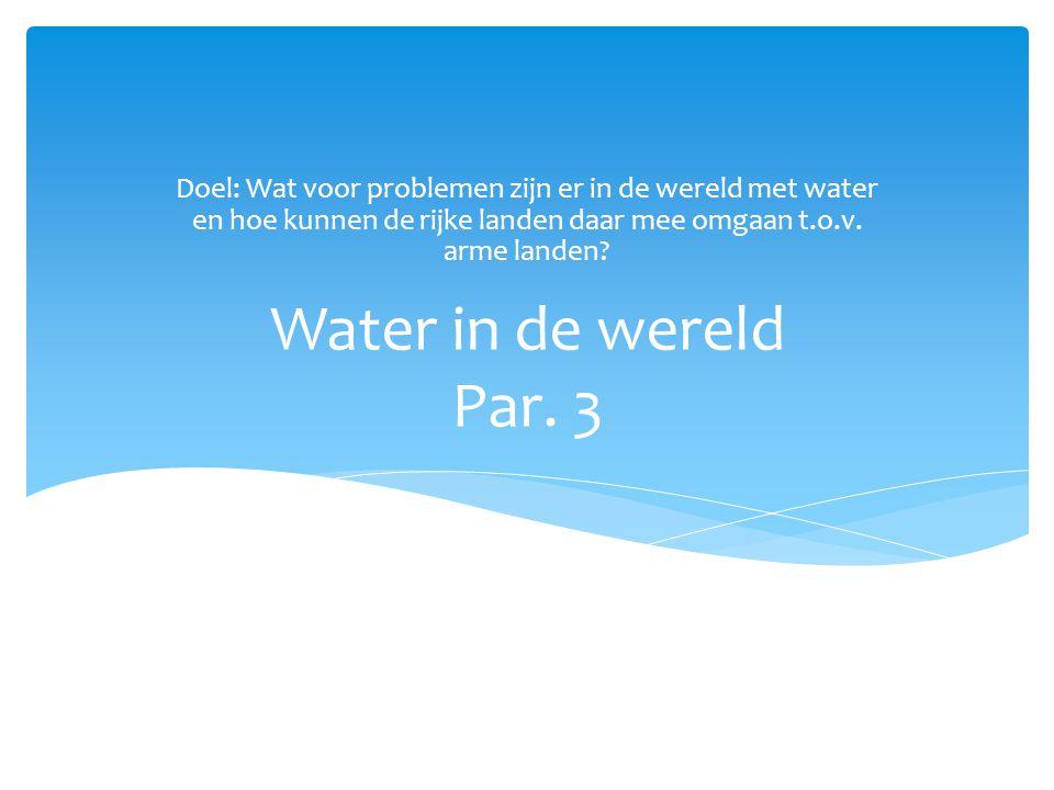 Problemen met water KwaliteitKwantiteit