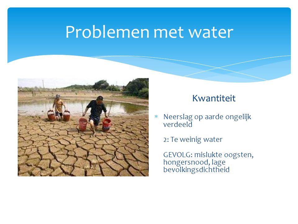 Oplossen waterprobleem Rijke landen