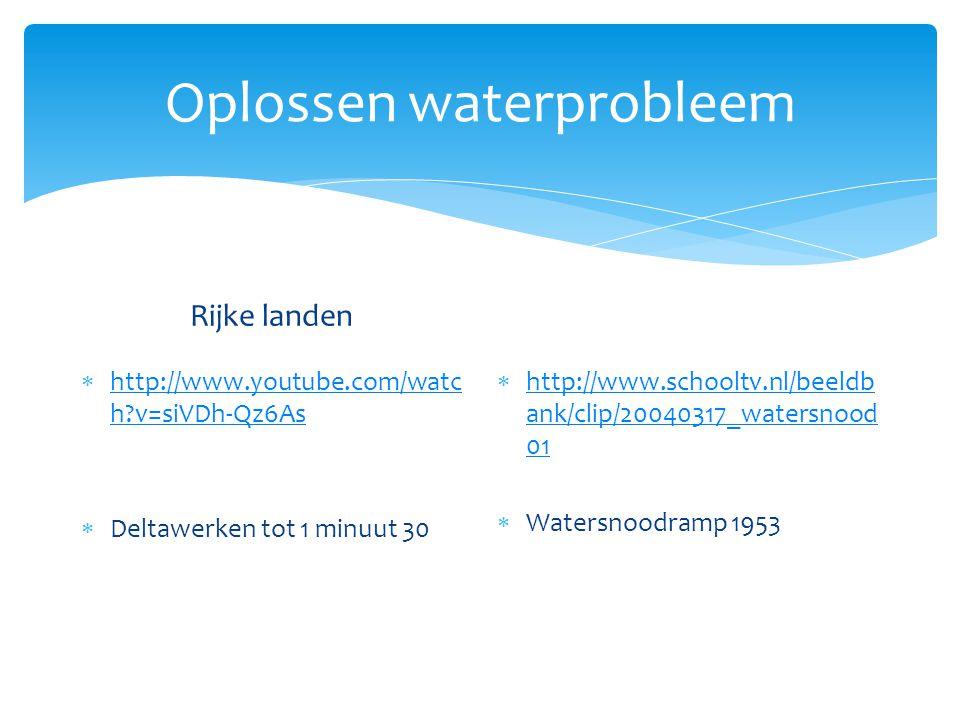 Oplossen waterprobleem Rijke landen  Bouw dure installaties die water schoonmaken