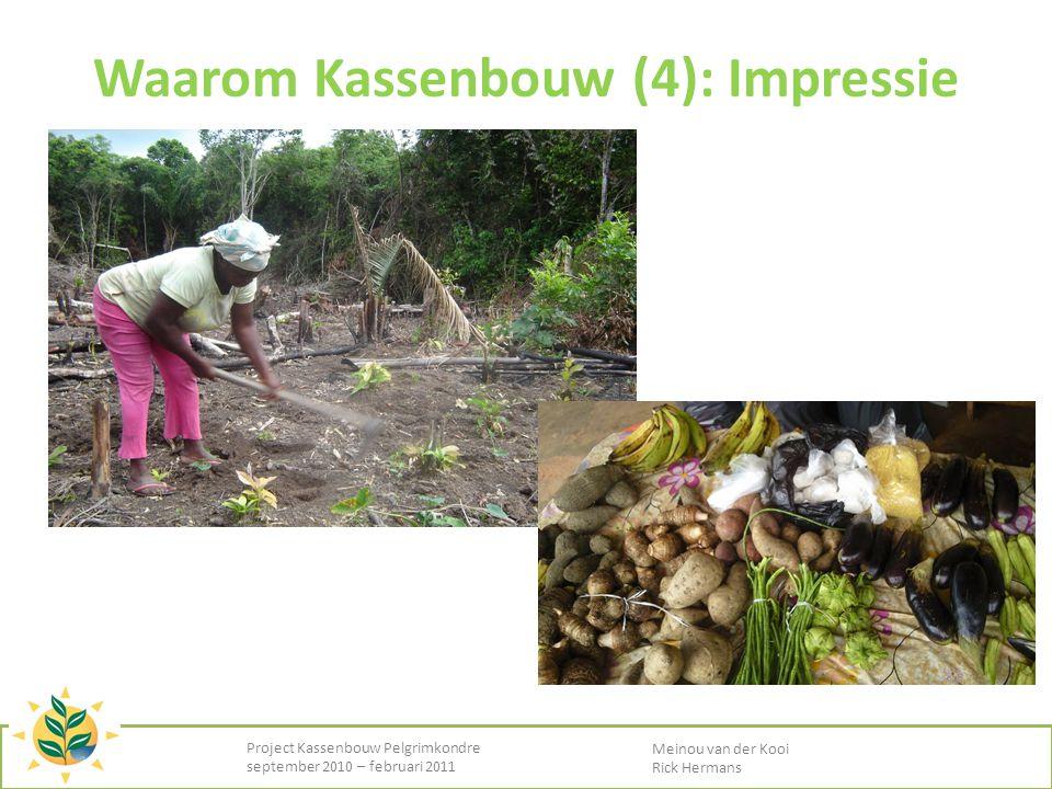 Waarom Kassenbouw (4): Impressie Project Kassenbouw Pelgrimkondre september 2010 – februari 2011 Meinou van der Kooi Rick Hermans