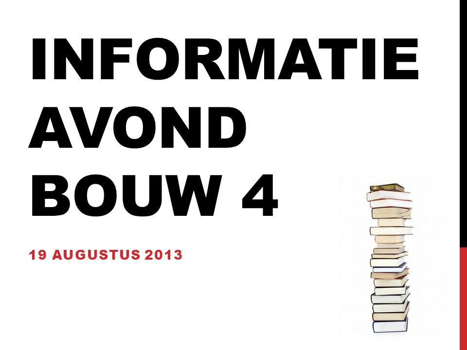 INFORMATIE AVOND BOUW 4 19 AUGUSTUS 2013