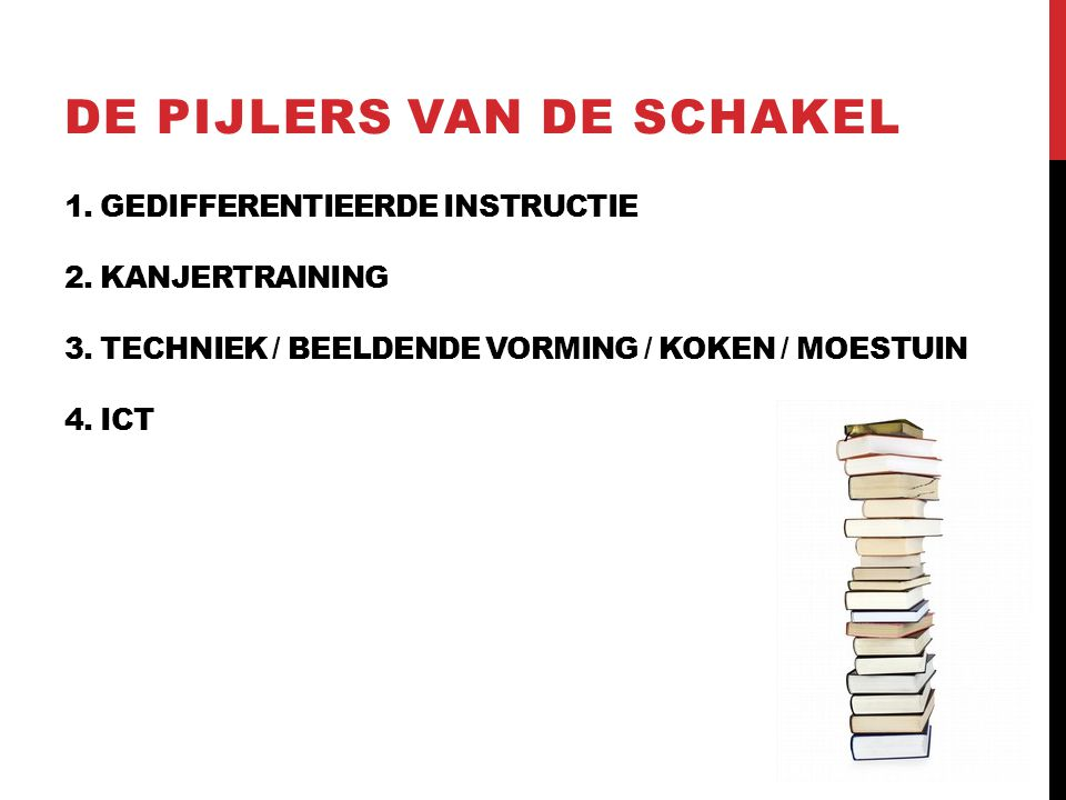 1. GEDIFFERENTIEERDE INSTRUCTIE 2. KANJERTRAINING 3.
