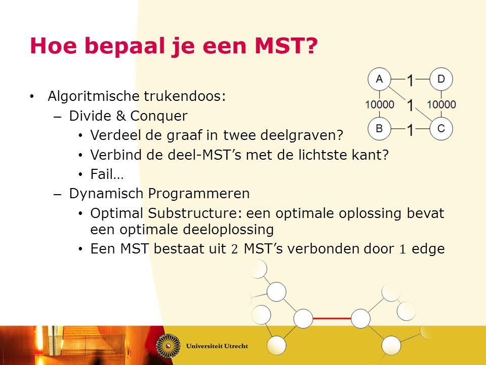 Hoe bepaal je een MST?