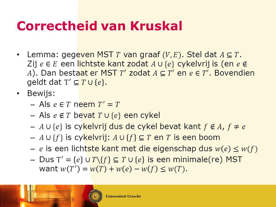 Correctheid van Kruskal