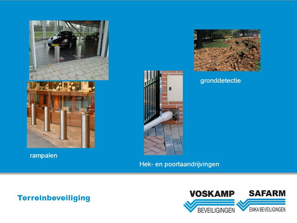 Terreinbeveiliging gronddetectie Hek- en poortaandrijvingen rampalen
