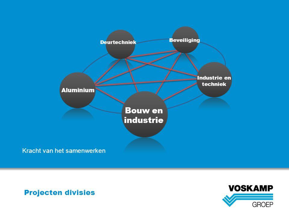 Projecten divisies Bouw en industrie Deurtechniek Beveiliging Aluminium Industrie en techniek Kracht van het samenwerken