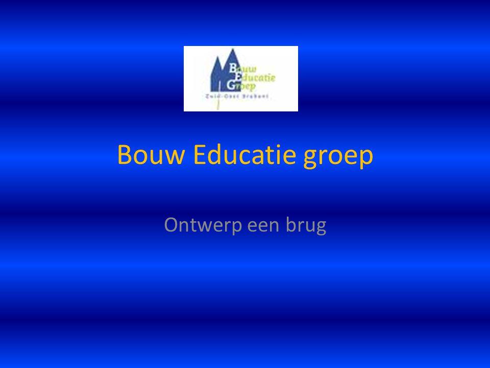 Bouw Educatie groep Ontwerp een brug