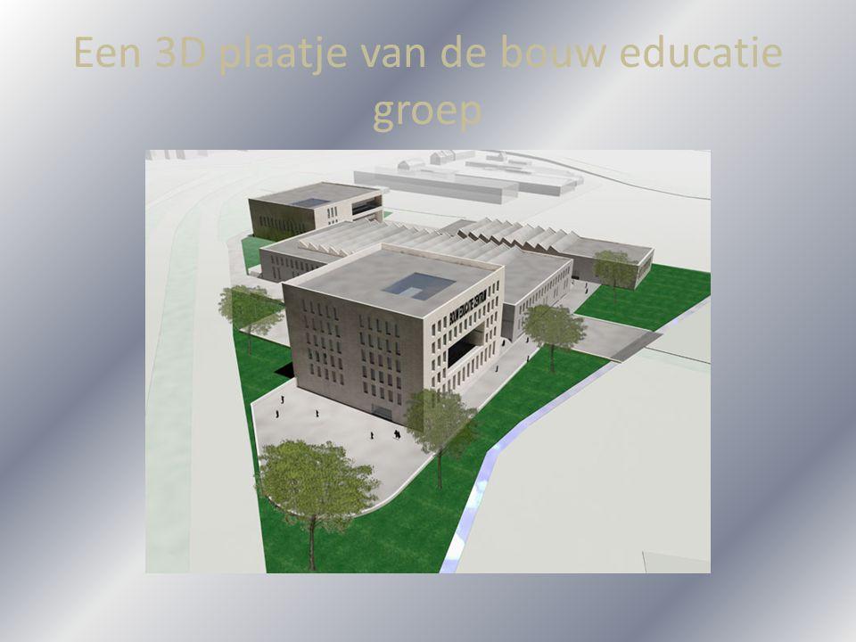 Een 3D plaatje van de bouw educatie groep