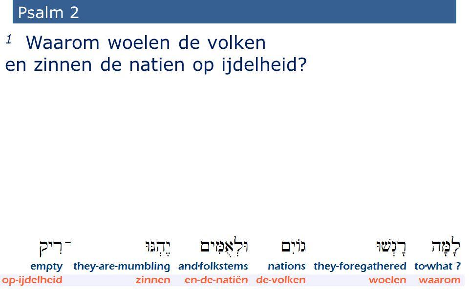16 Psalm 2 1 Waarom woelen de volken en zinnen de natien op ijdelheid?