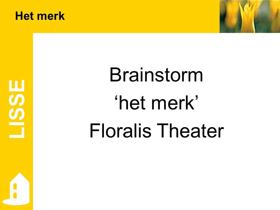 Brainstorm 'het merk' Floralis Theater LISSE Het merk