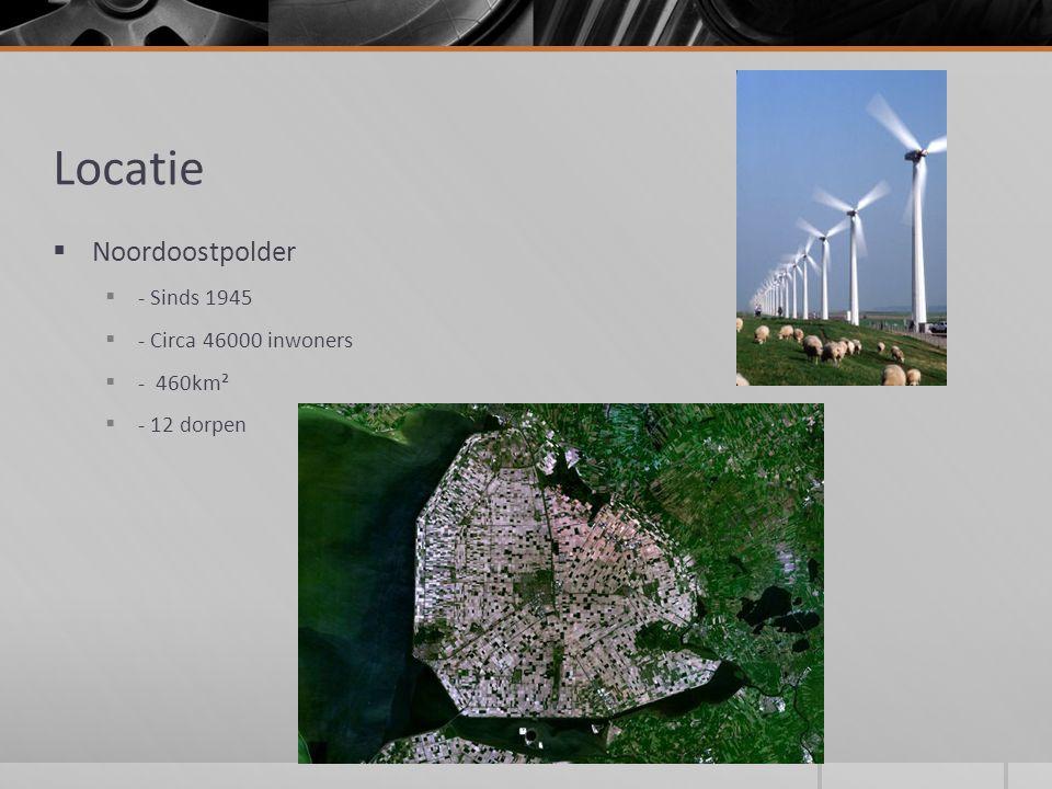 Locatie  Noordoostpolder  - Sinds 1945  - Circa 46000 inwoners  - 460km²  - 12 dorpen