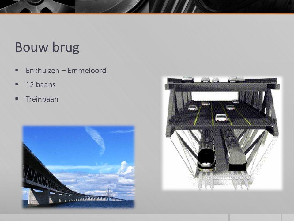 Bouw brug  Enkhuizen – Emmeloord  12 baans  Treinbaan
