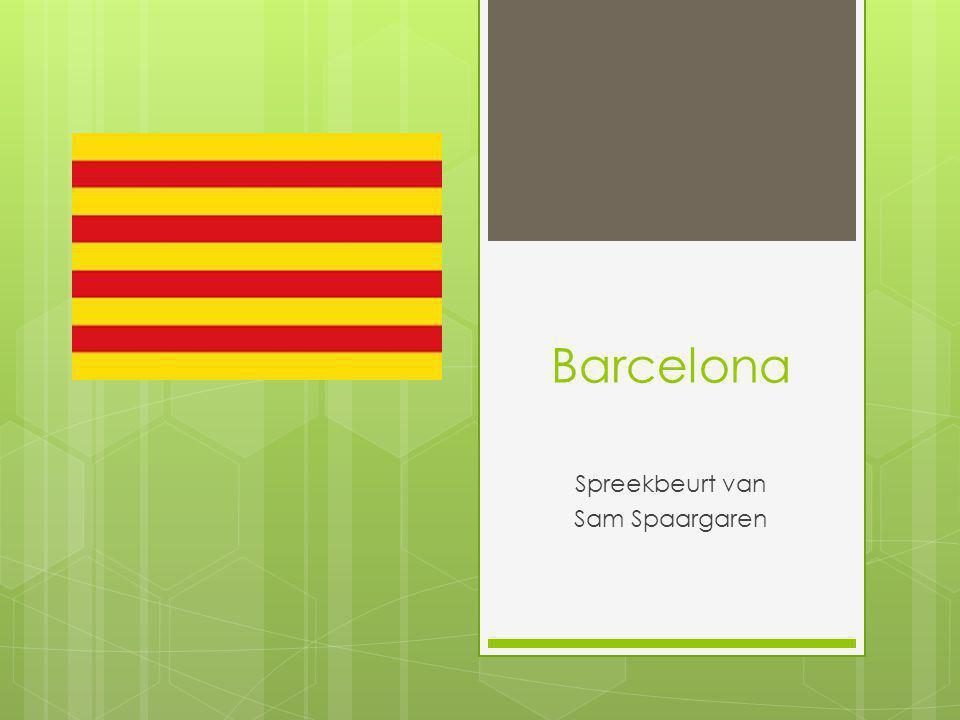 Barcelona Spreekbeurt van Sam Spaargaren