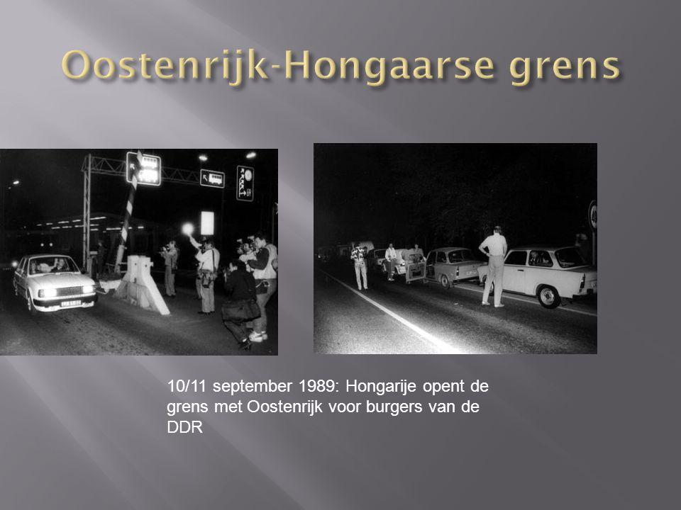 10/11 september 1989: Hongarije opent de grens met Oostenrijk voor burgers van de DDR