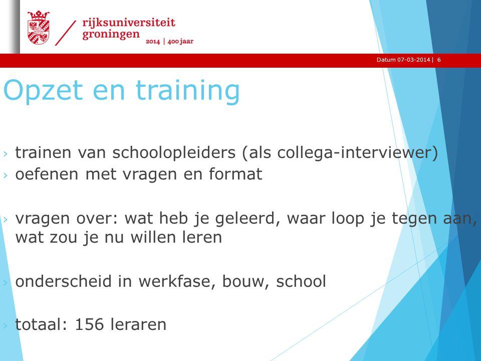 |Datum 07-03-2014 Opzet en training › trainen van schoolopleiders (als collega-interviewer) › oefenen met vragen en format › vragen over: wat heb je g