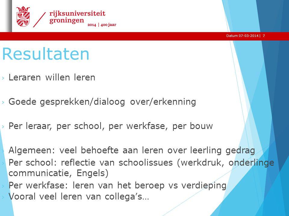 Inhoud + Interventies Leren Samenhang Duur Samenwerken Toename KVA leraar Verandering in klasse org.