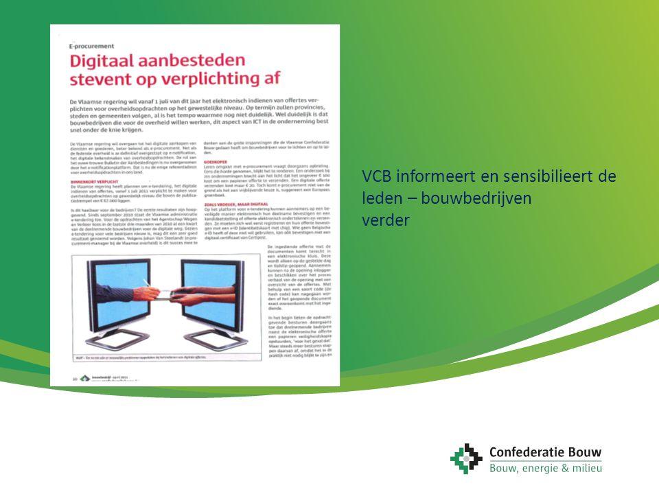 VCB informeert en sensibilieert de leden – bouwbedrijven verder