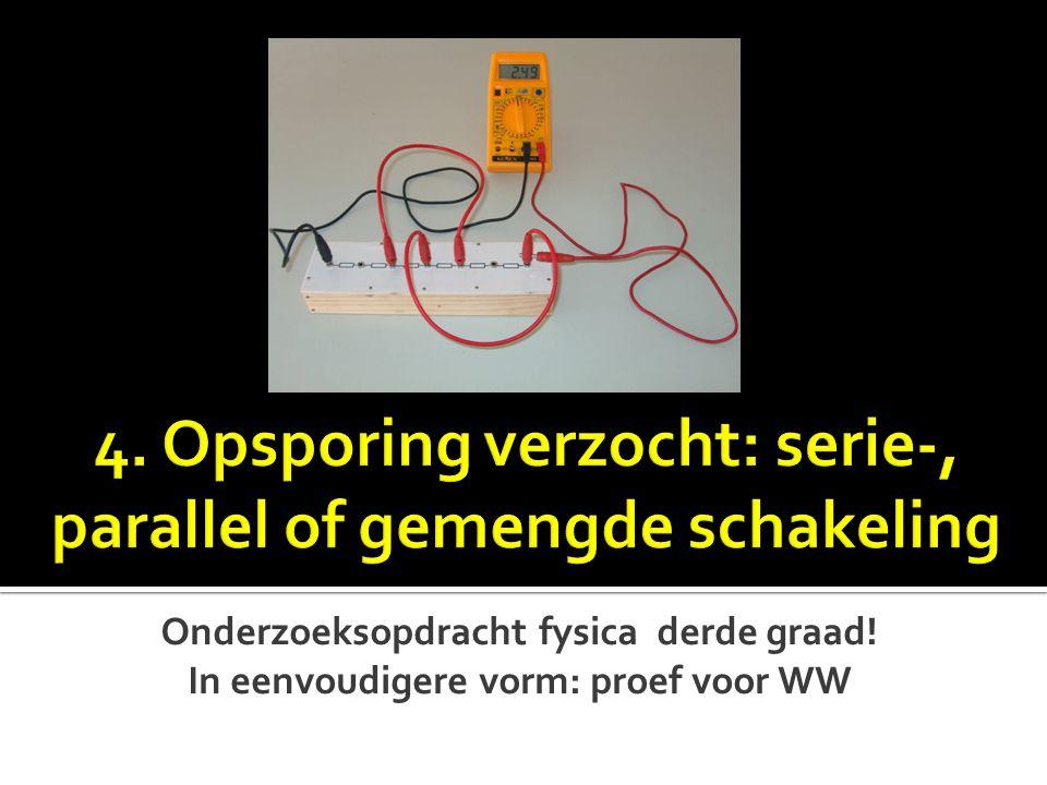 Onderzoeksopdracht fysica derde graad! In eenvoudigere vorm: proef voor WW
