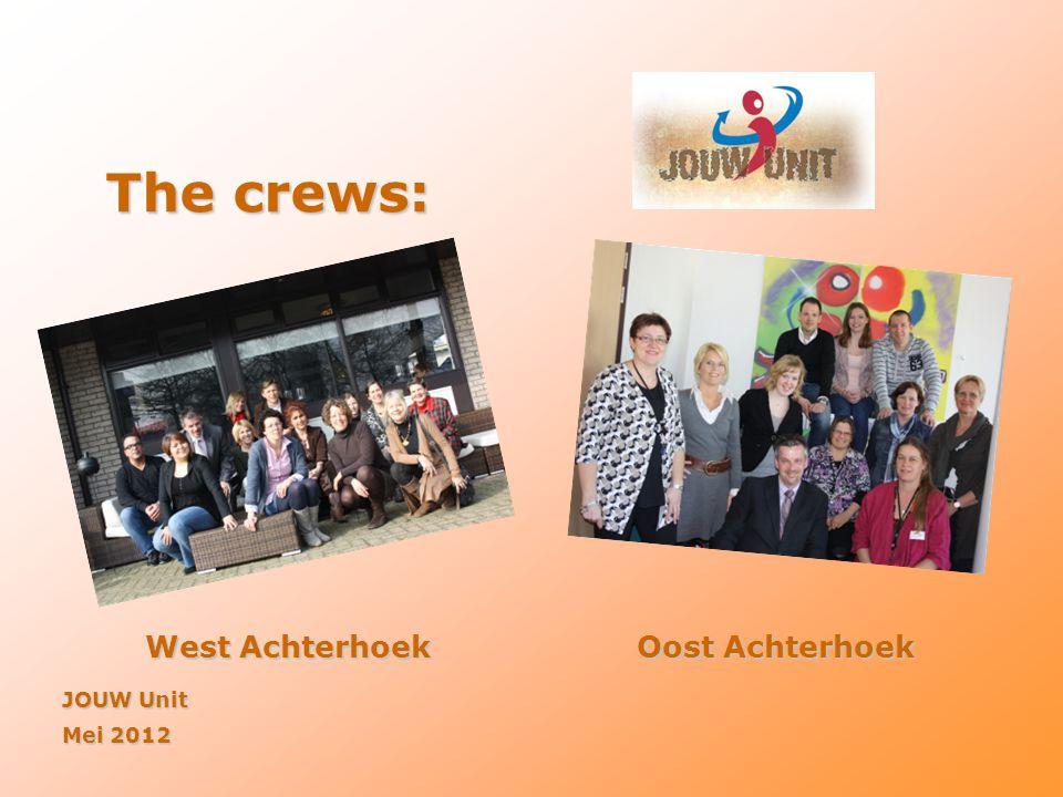 The crews: West AchterhoekOost Achterhoek JOUW Unit Mei 2012