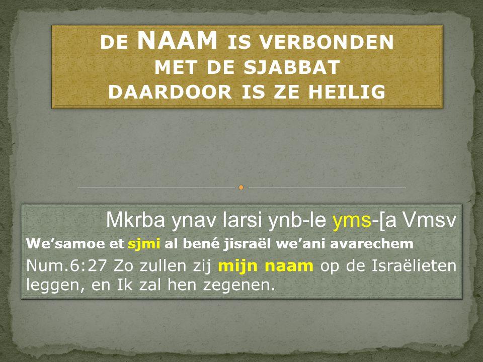 JHWH verbonden aan de Sjabbat Wanneer JHWH de Sjabbat zegent en daardoor heiligt, kunnen wij daar dan aan voorbijgaan.