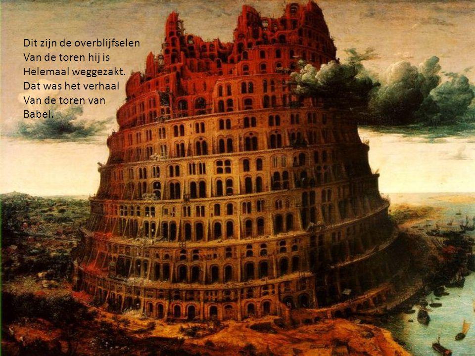 De mensen hadden zich Verspreid omdat god ervoor Gezorgd had dat ze elkaar niet Meer verstonden want god wou Niet dat ze die toren maakte..