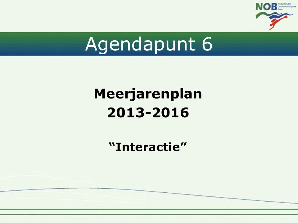 """Agendapunt 6 Meerjarenplan 2013-2016 """"Interactie"""""""