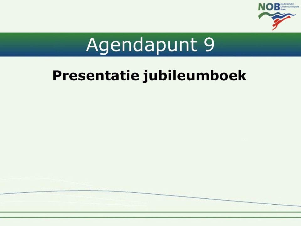 Agendapunt 9 Presentatie jubileumboek