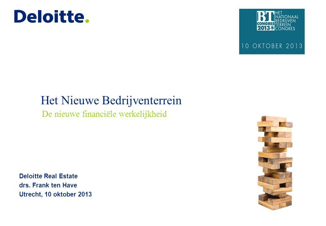Het Nieuwe Bedrijventerrein Deloitte Real Estate drs.