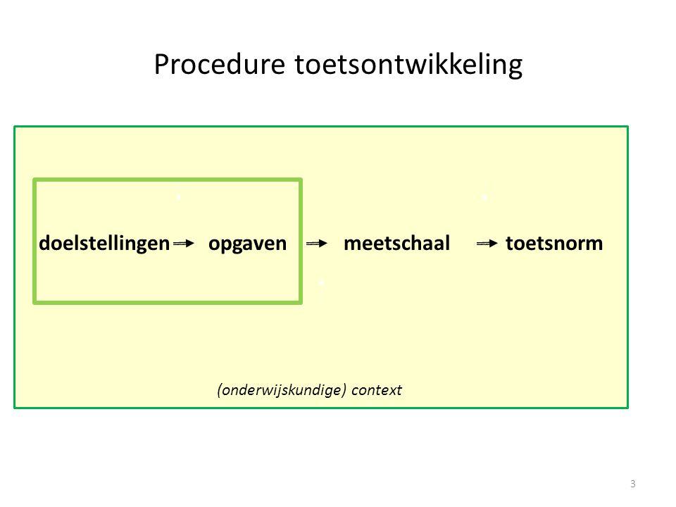 •Trait-view: –gradaties van beheersing –Items verschillen in moeilijkheidsgraad –Meetschaal.