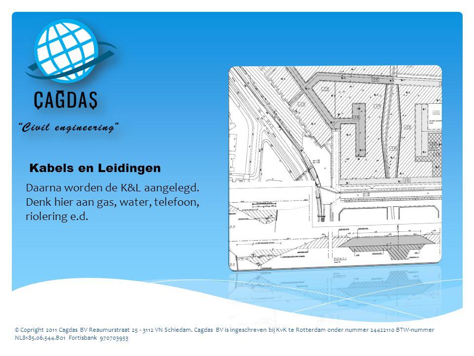 Kabels en Leidingen Daarna worden de K&L aangelegd.