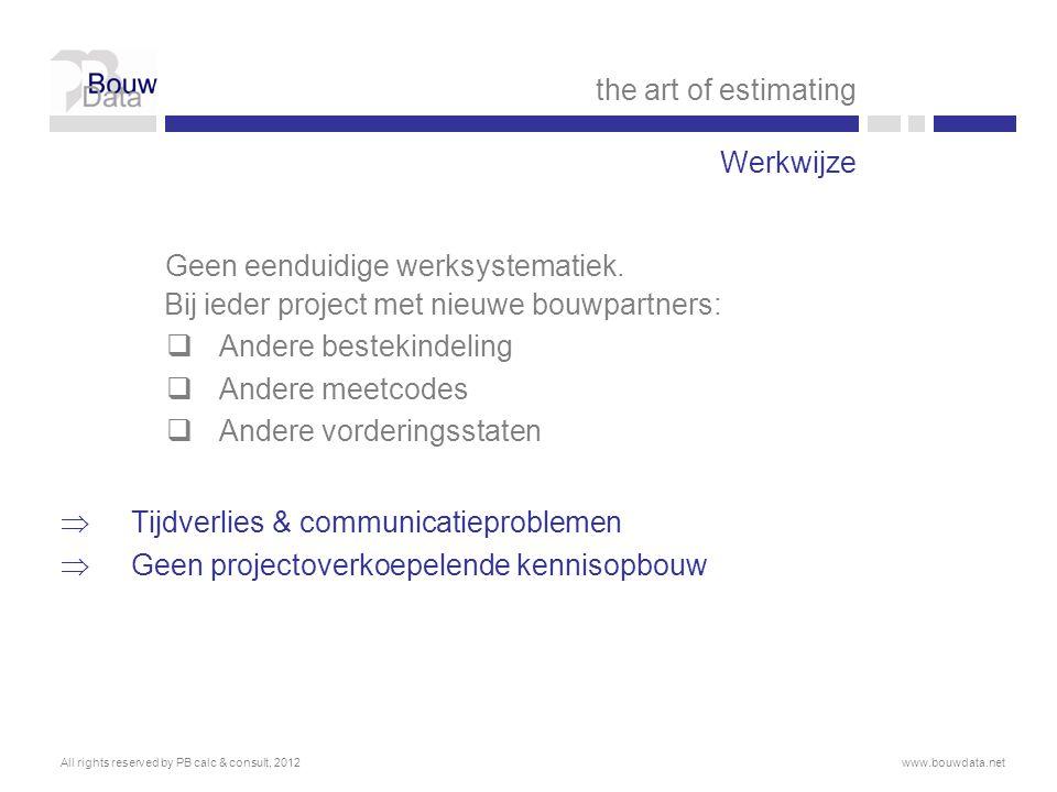 Effect op bouwpraktijk  Nieuwe sleutelbegrippen: samenwerking i.p.v.