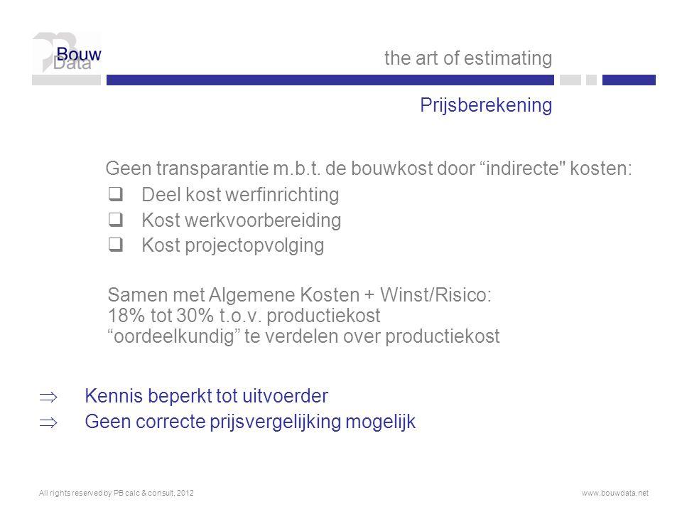  BouwData ® is een werkmethodiek inclusief rekeningstelsel en database met steun van IWT (nr.080429)  Gebaseerd op bestaande normen in België en Nederland  Om de kosten, de kwaliteit en de communicatiestroom te beheersen  Doorheen alle projectfasen (van haalbaarheid over ontwerp en uitvoering t.e.m.