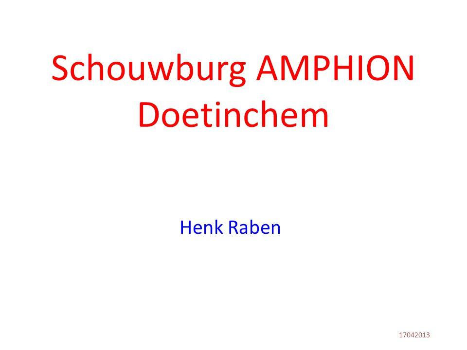 Henk Raben -Tot juli 2011 directeur van Schouwburg Amphion te Doetinchem -Vanaf 1 juni 2011 gestart met Adviesbureau M.P.C.
