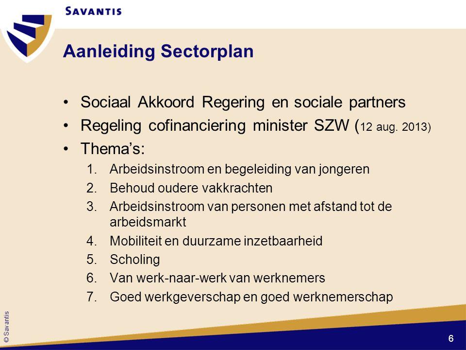 © Savantis Vervolgtraject •Subsidiebeschikking van het Agentschap SZW (nog te ontvangen d.d.