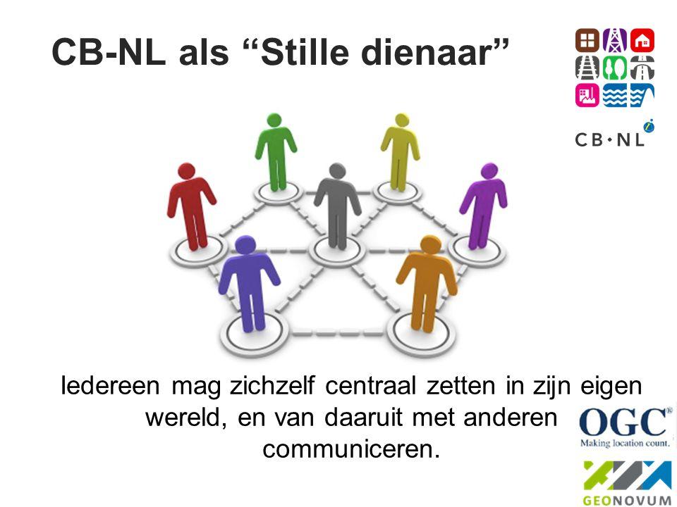 """CB-NL als """"Stille dienaar"""" Iedereen mag zichzelf centraal zetten in zijn eigen wereld, en van daaruit met anderen communiceren."""