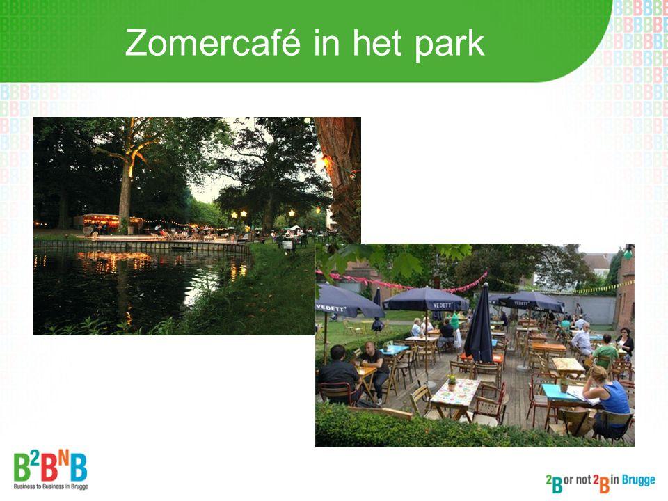 Zomercafé in het park