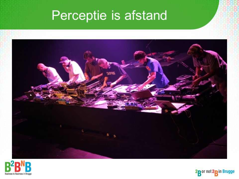 Perceptie is afstand